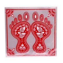 Charan Paduka Stickers for Diwali - Set of 5