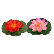 Red n Pink Artificial Floating Flowers (Set of 2)