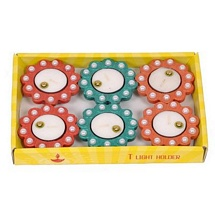 Tealight Candles with Holders for Diwali