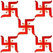 Auspicious Swastika Stickers - Set of 5