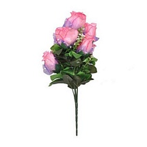 Pearly Pink Artificial Rose Bunch for Diwali Gifts and Decoration