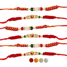 Designer Beads Rakhi Set of Six