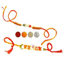 Designer Rakhi Set of Two for Brothers