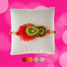 Fancy Rakhi with Multicolor Beads