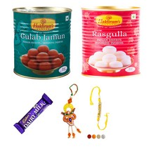 Fancy Bhaiya Bhabhi Rakhi Set with Sweets