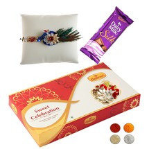 Peacock Rakhi Chocolate and 500g Kaju Barfi