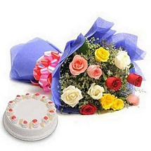 Roses with Eggless Cake