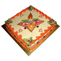Beautiful Rangoli Cake 1kg - Diwali Gifts