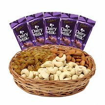Dry Fruits Mixture & Dairy Milk - Diwali Gifts