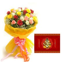 Mix Roses N Greetings - Diwali Gifts