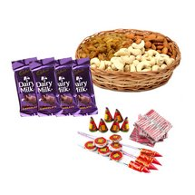 Mix Dryfruits N Crackers - Diwali Gifts