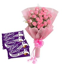 Pretty Pink N Chocolates - Diwali Gifts