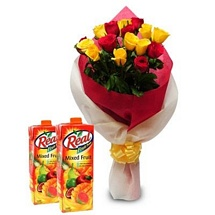 Roses with Real Fruit Juice