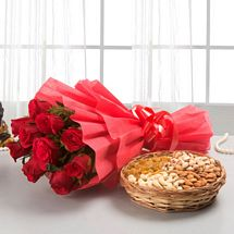 Roses with dryfruits EXDFNP113