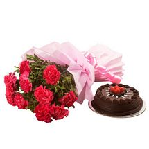 Chocolate Cake N Flowers