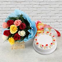 Pineapple Cake with Roses
