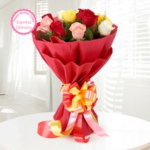 Mothers Day Spl - 12 Sundry Mix Roses
