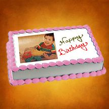 1kg Photo Cake Butterscotch Eggless