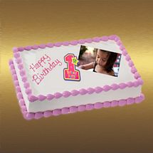 1kg Photo Cake Chocolate Sponge Eggless