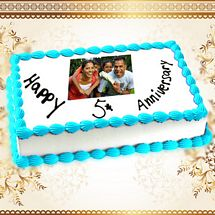 5th Anniversary Photo Cake 1kg