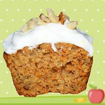 6 Carrot and Orange Cupcakes