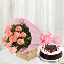 Valentine - Sweet Treat with Flowers