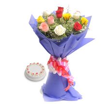 Valentine - Mix Flowers n Cake