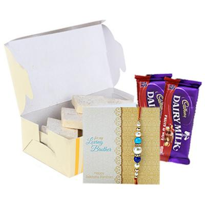 Rakhi with Dryfruits and Chocolates Same Day Delivery