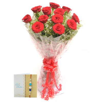 Rakhi with Flowers Same Day Delivery